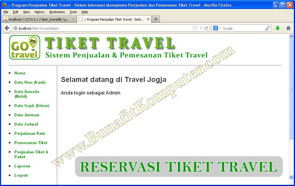 Skripsi Informatika Sistem Informasi Reservasi Tiket Travel